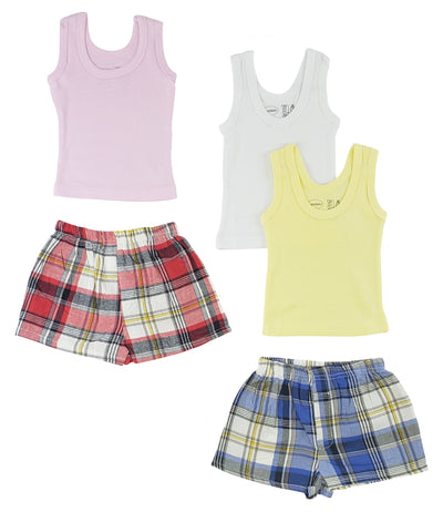 Girls Tank Tops and Boxer Shorts - Baby World Inc