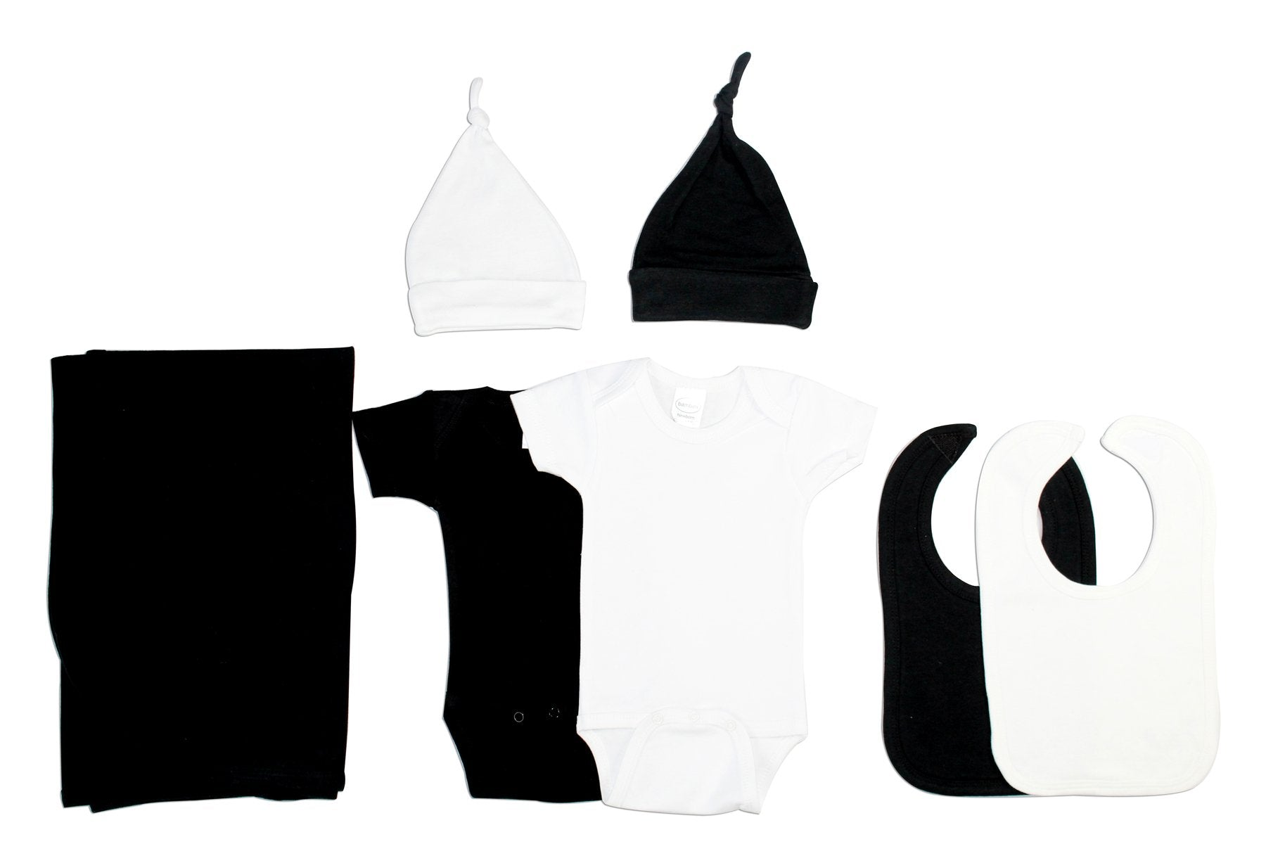 Bambini Black and White 7 Piece Layette Set - Baby World Inc