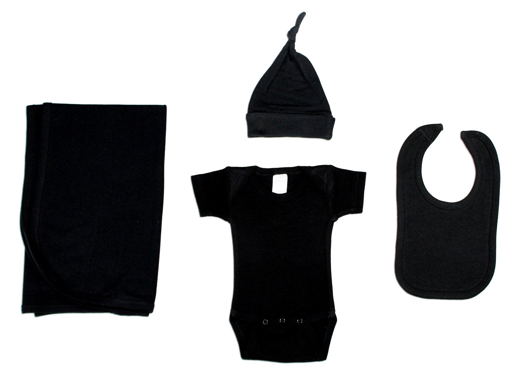 Bambini Black 4 Piece Layette Set - Baby World Inc