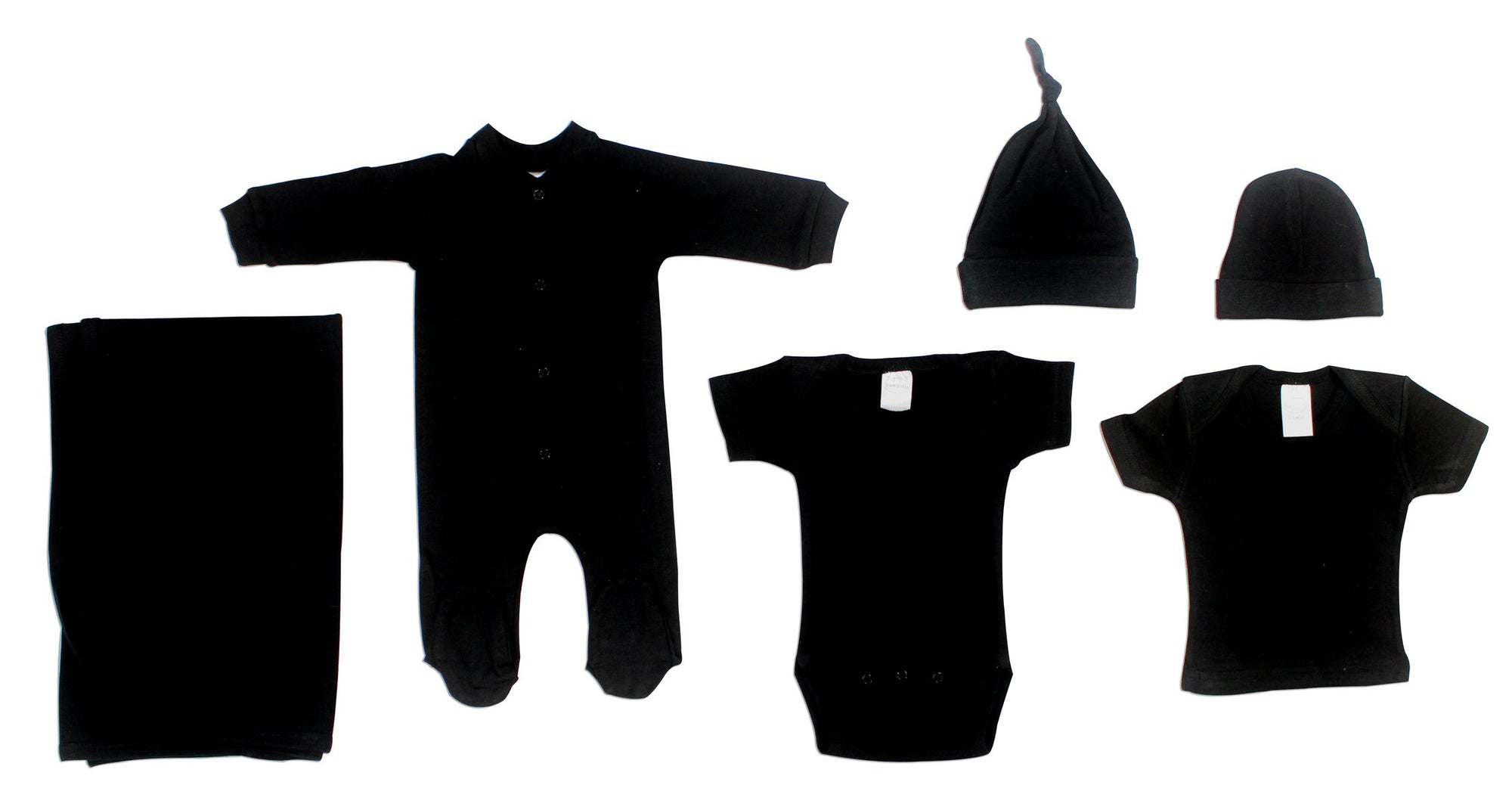 Bambini Black 6 Piece Layette Set - Baby World Inc
