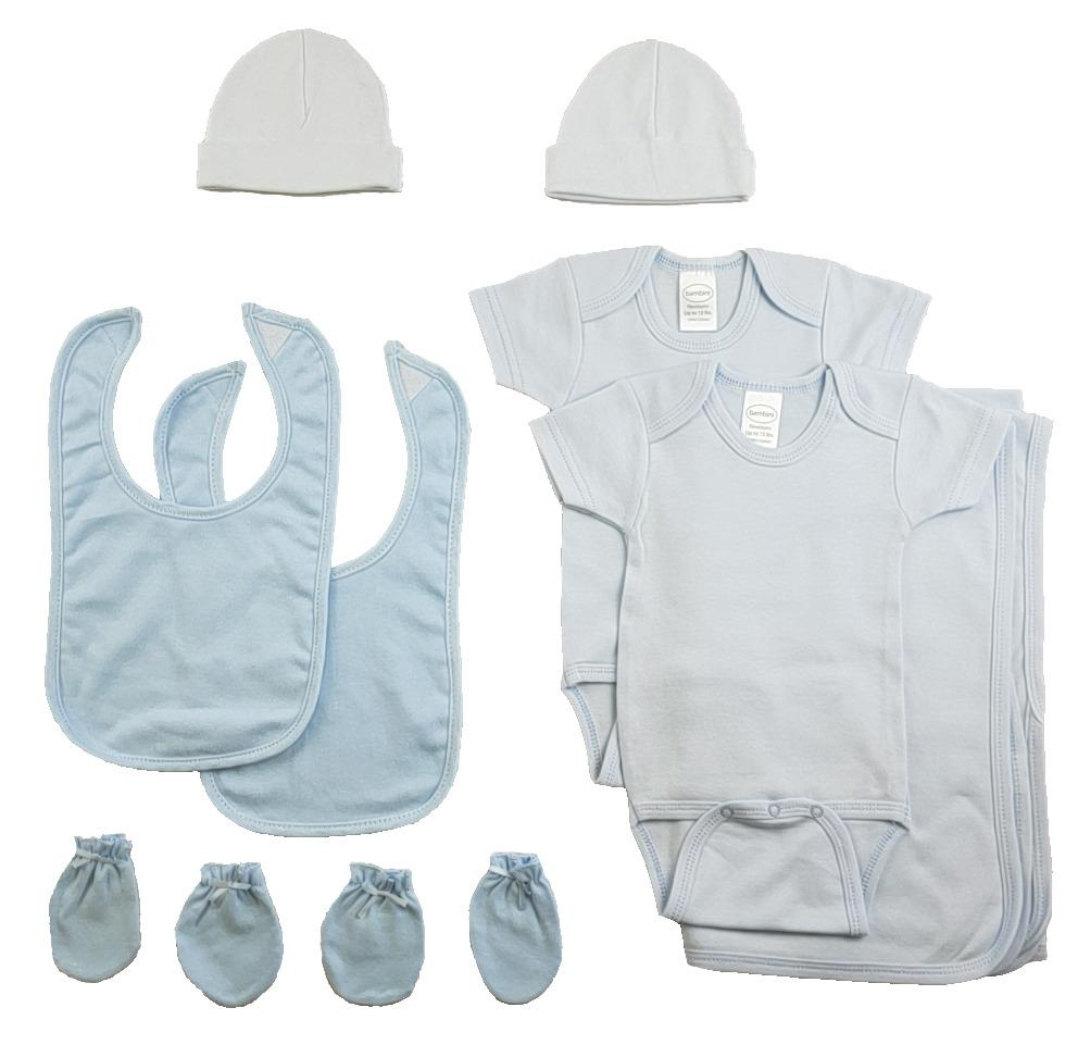 Boys 9 Piece Blue Layette Set - Baby World Inc