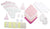 Bambini Newborn Baby Girls 17 Pc Layette Baby Shower Gift Set - Baby World Inc