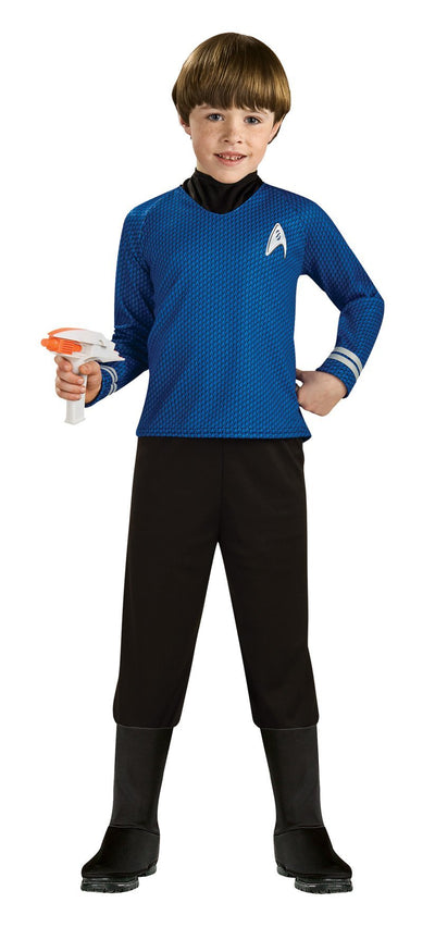 Star Trek Boys Costume Deluxe Blue Cost Sm - Baby World Inc