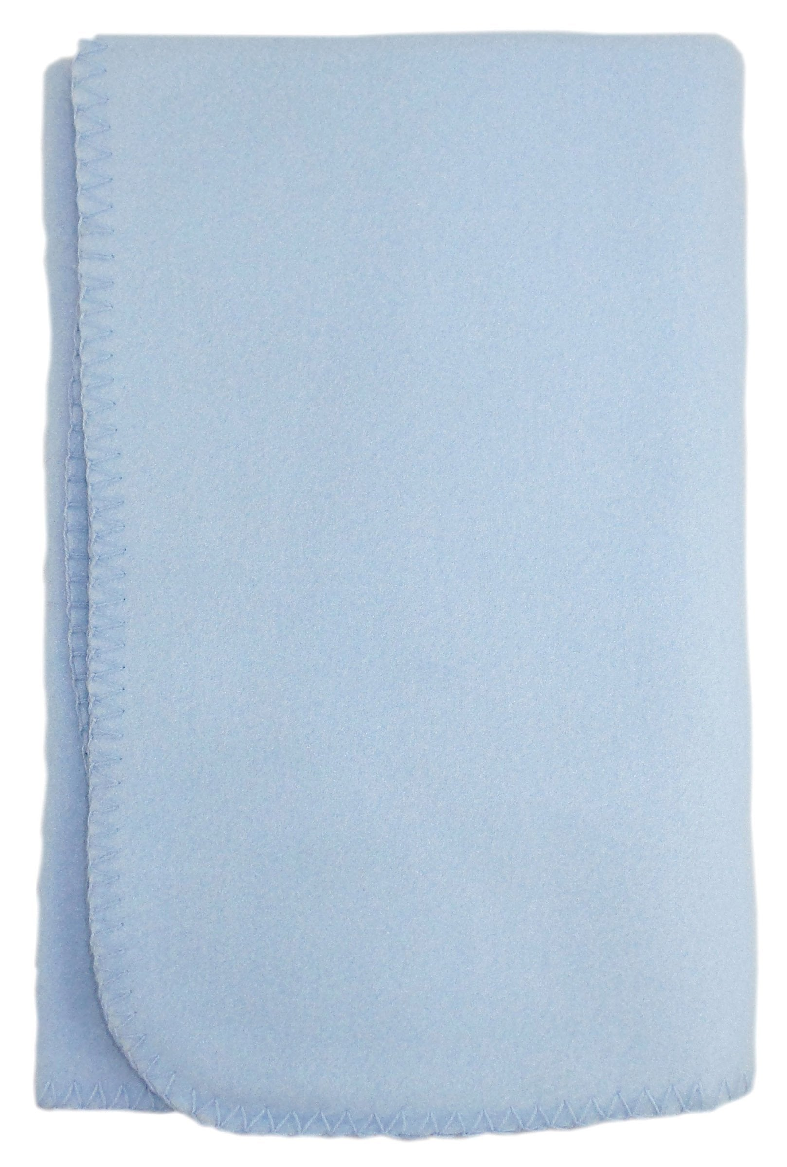 Bambini Blank Blue Polarfleece Blanket - Baby World Inc