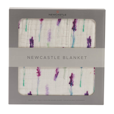 Lavender and White Newcastle Blanket - Baby World Inc