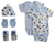 Bambini Newborn Baby Boys 5 pcs Layette Baby Shower Gift Set - Baby World Inc