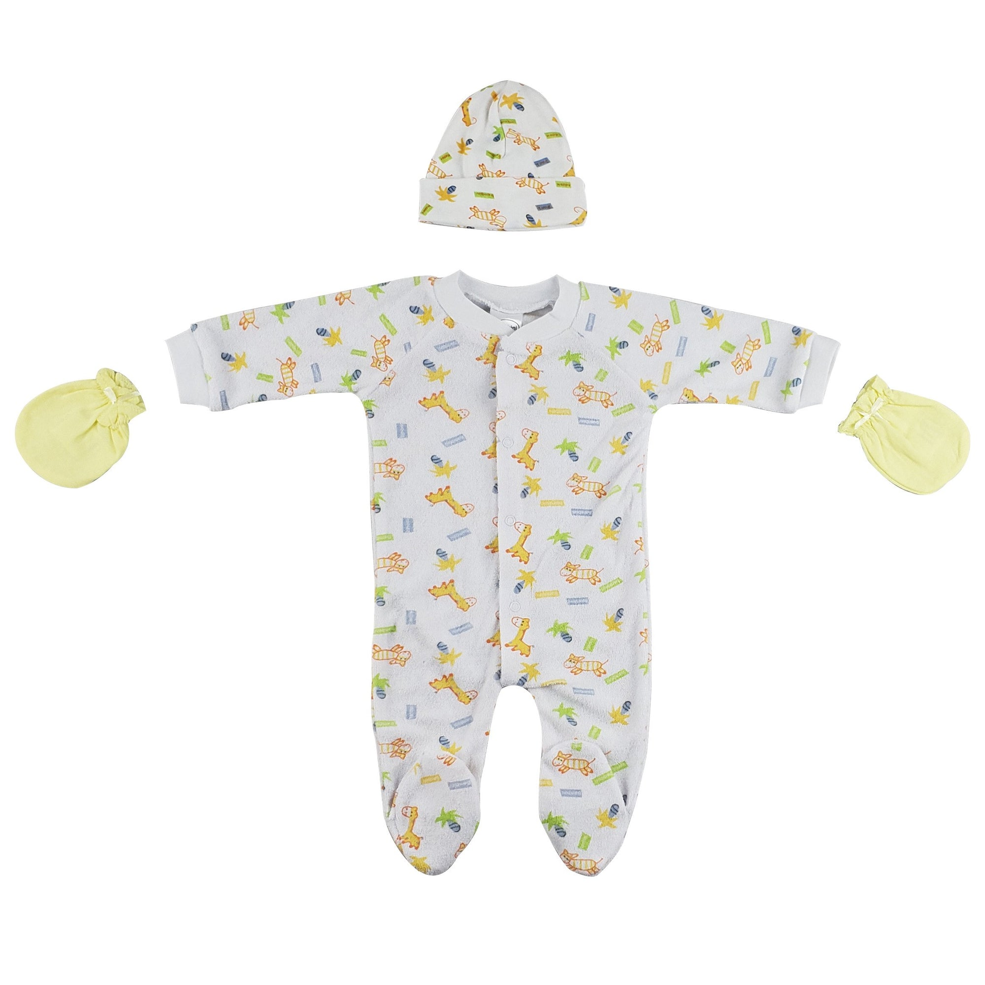 Sleep-n-Play, Cap and Mittens - 3 Pc Set - Baby World Inc