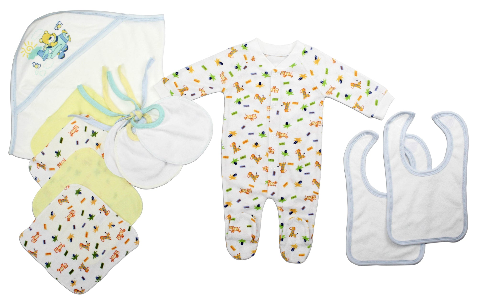 Bambini Newborn Baby Boys 11 pcs Layette Baby Shower Gift Set - Baby World Inc