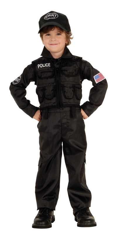 Policeman Swat Boys Costume Sm - Baby World Inc