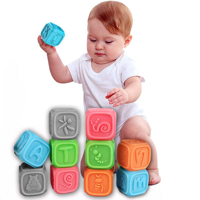 Baby Blocks, 10 Baby Teether Toys for 1 Year Old - Baby World Inc