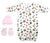 Bambini Girls' 3 Piece Layette Set - Baby World Inc