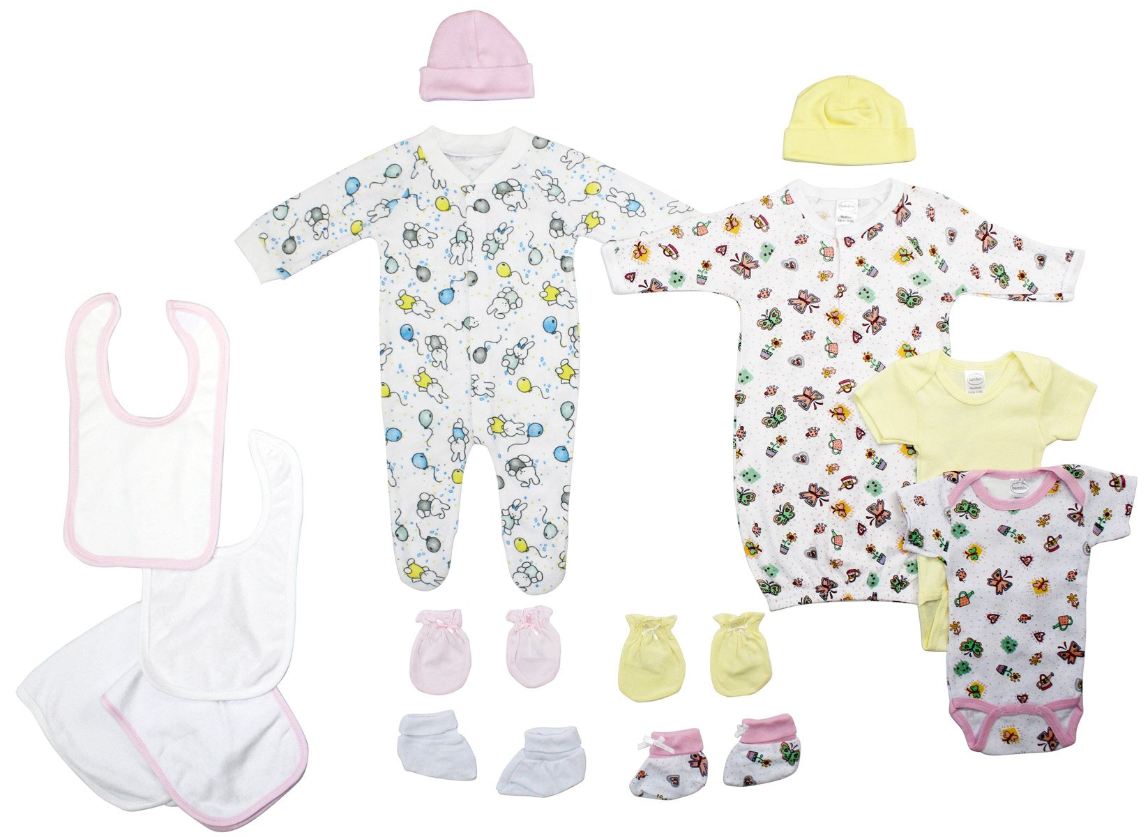 Bambini Newborn Baby Girls 11 Pc Layette Baby Shower Gift Set - Baby World Inc