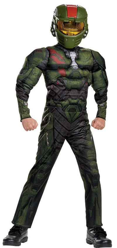 Halo Wars Jerome Muscle Boys Costume Small 4-6 - Baby World Inc