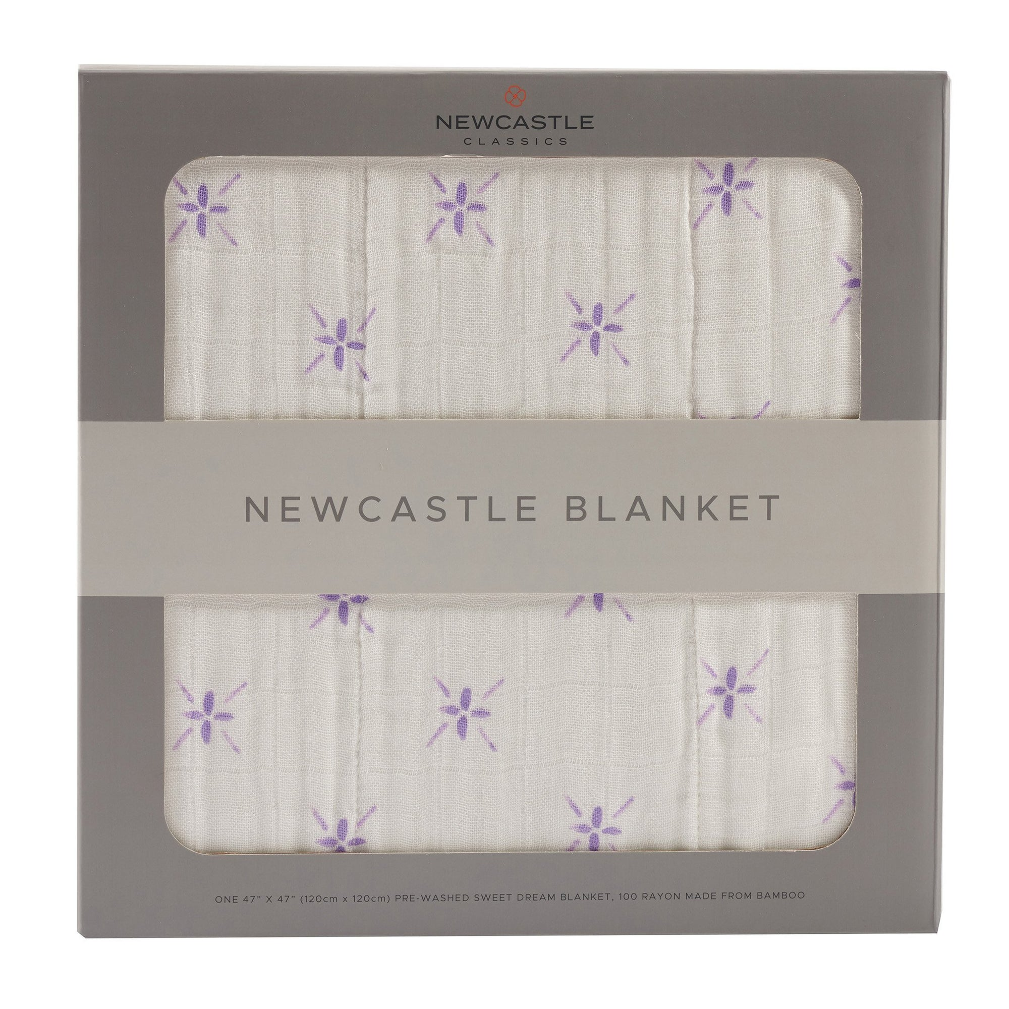 Watercolor Star and White Newcastle Blanket - Baby World Inc