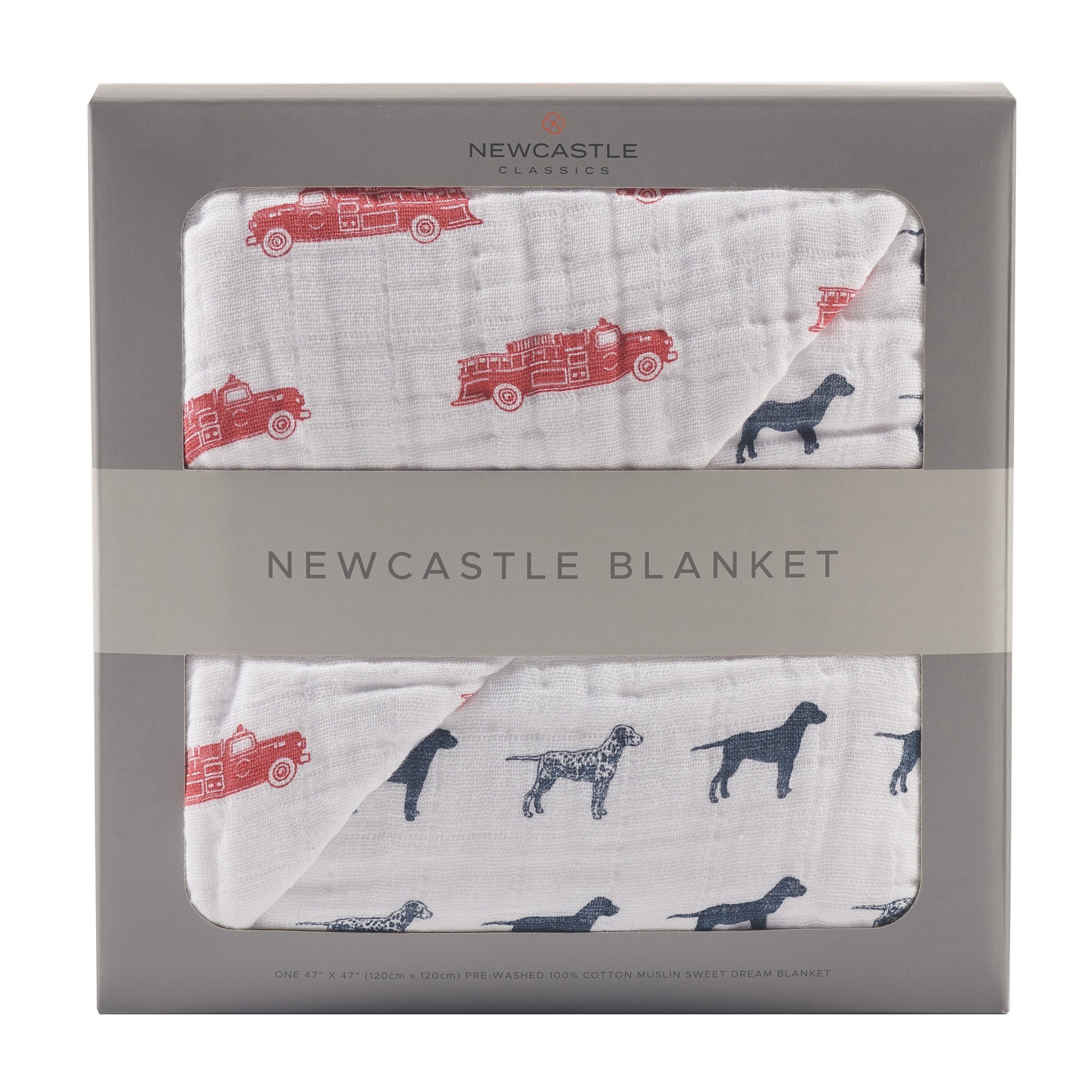 Fire Truck & Dalmatian Newcastle Blanket - Baby World Inc