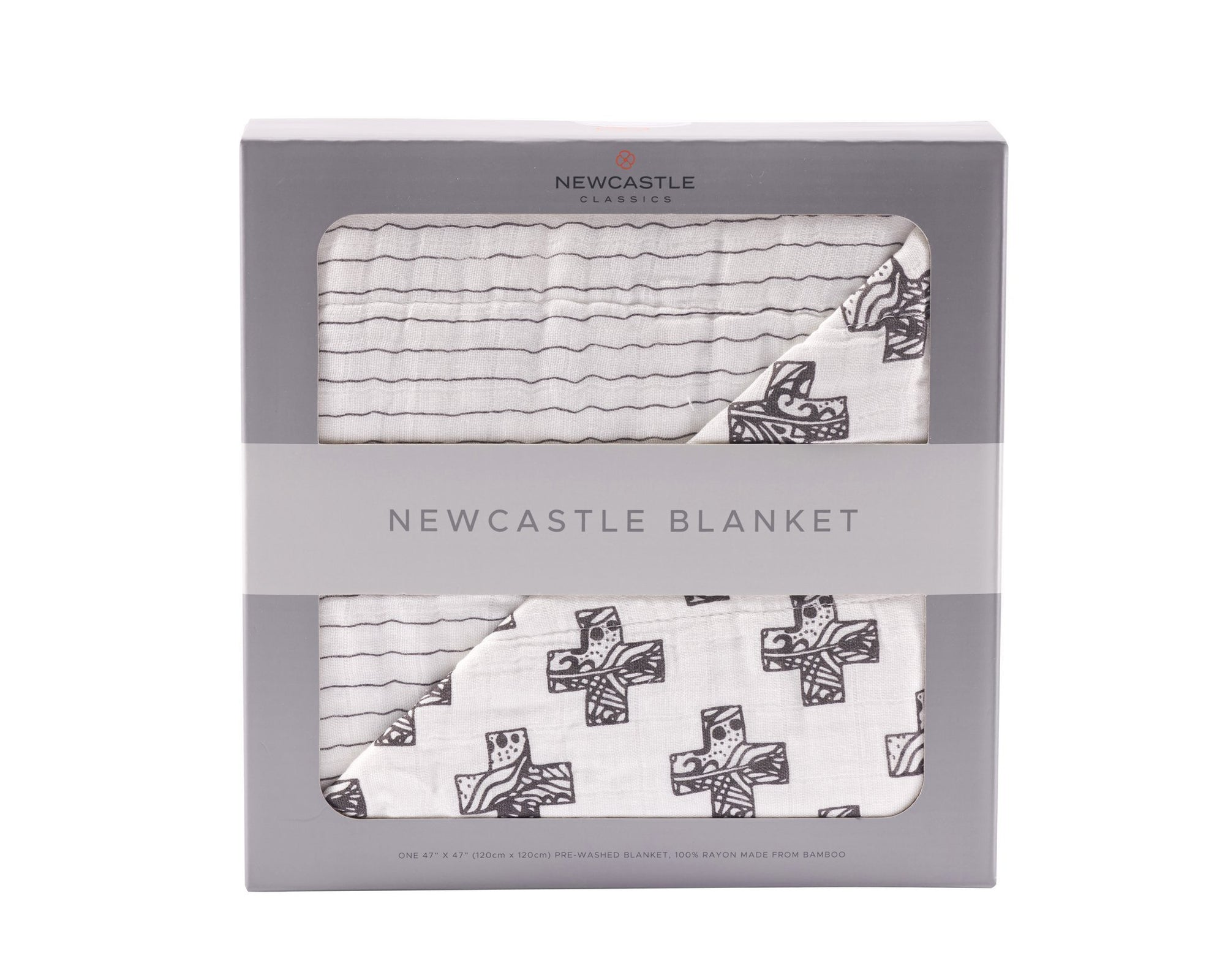 Nordiac Cross and Pencil Stripe Newcastle Blanket - Baby World Inc
