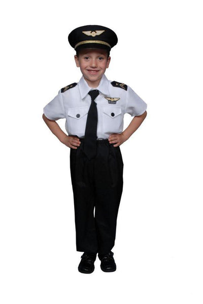 Pilot Boy Boys Costume Large - Baby World Inc
