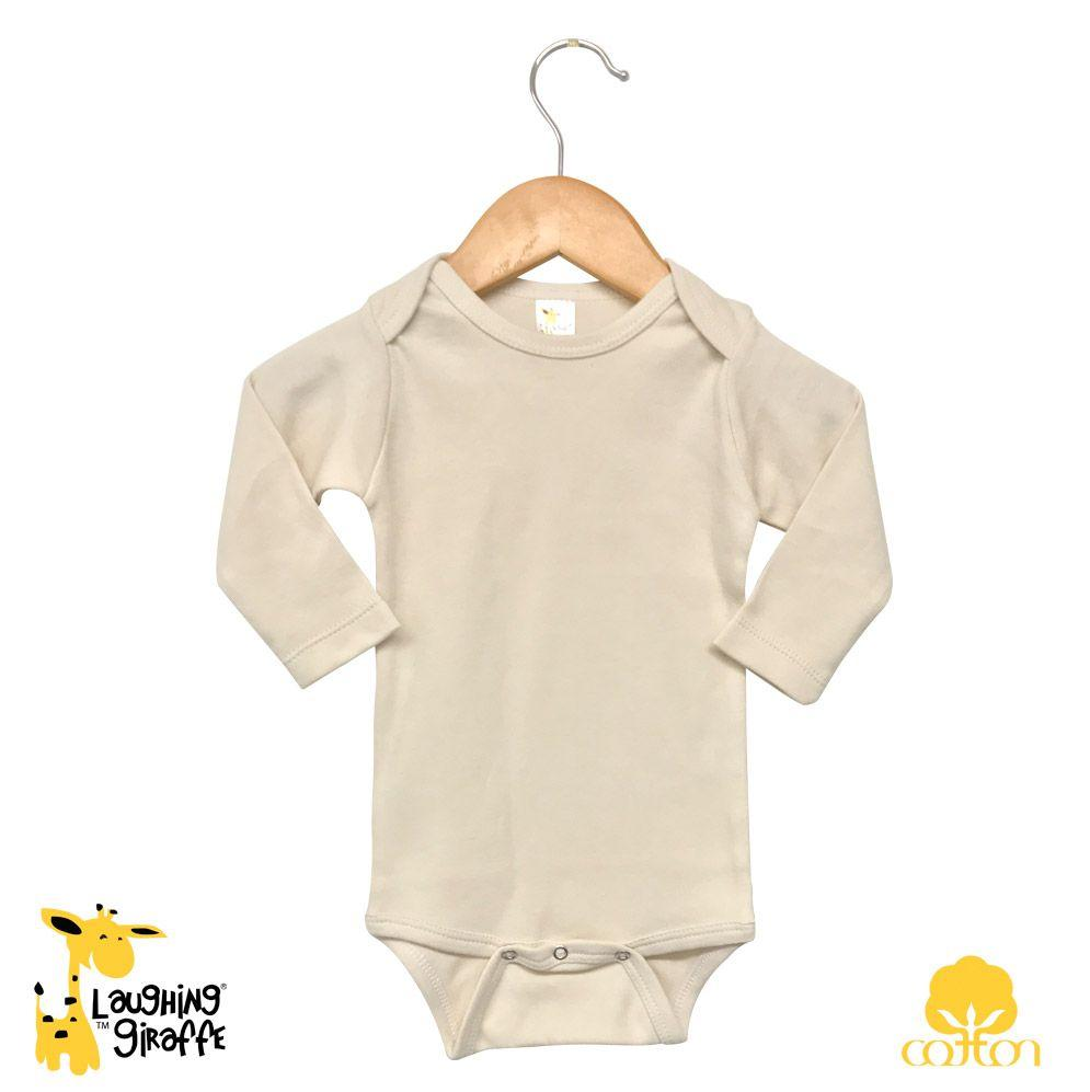Baby Onesies L/S - Natural - Baby World Inc