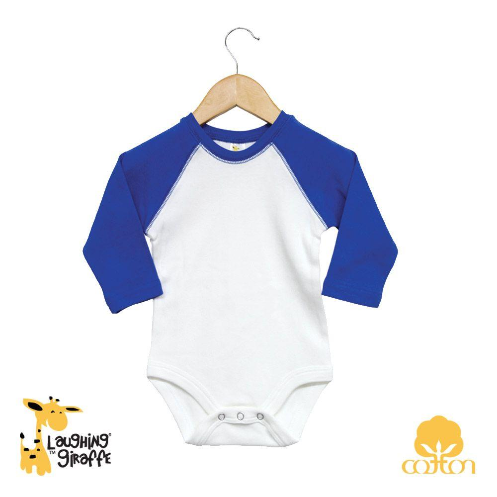 Baby Raglan Onesies Long Sleeves - Royal - Baby World Inc