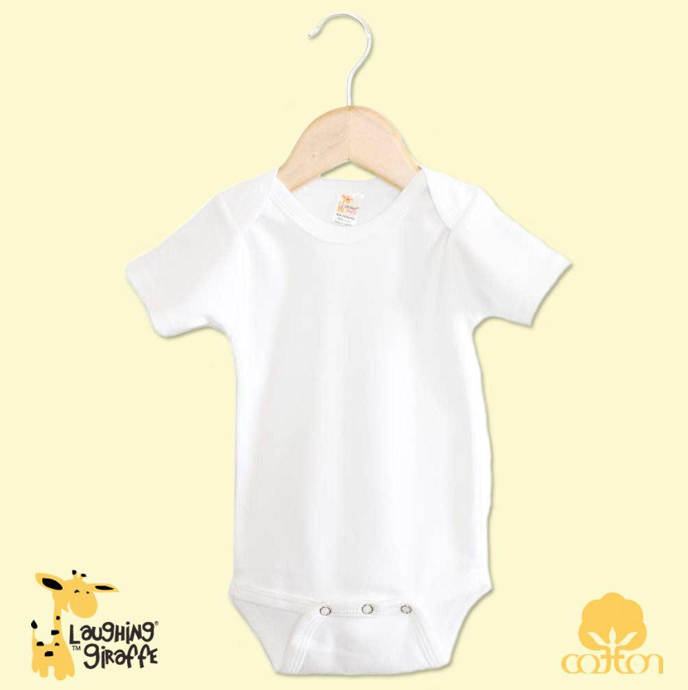 Baby S/S Onesies - White - Baby World Inc
