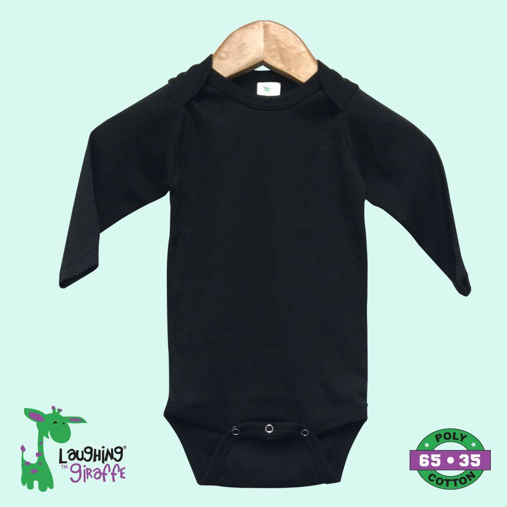 Baby L/S Onesies - Black - Baby World Inc