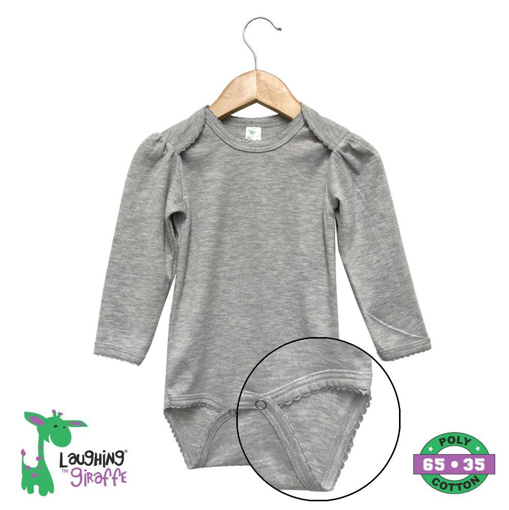 L/S Scallop Onesies - Gray - Baby World Inc