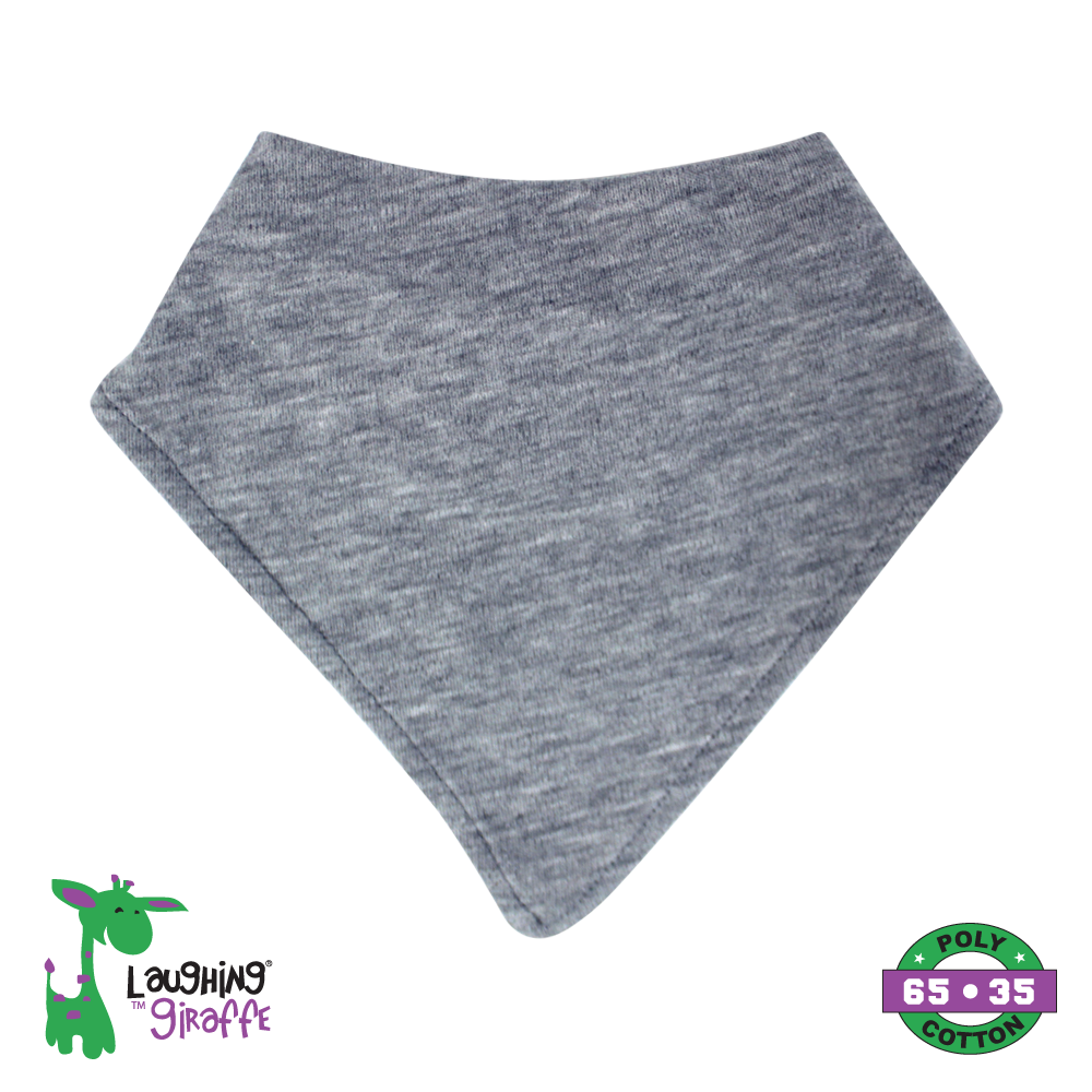 Baby Bandana Bib - Heather Gray - Baby World Inc