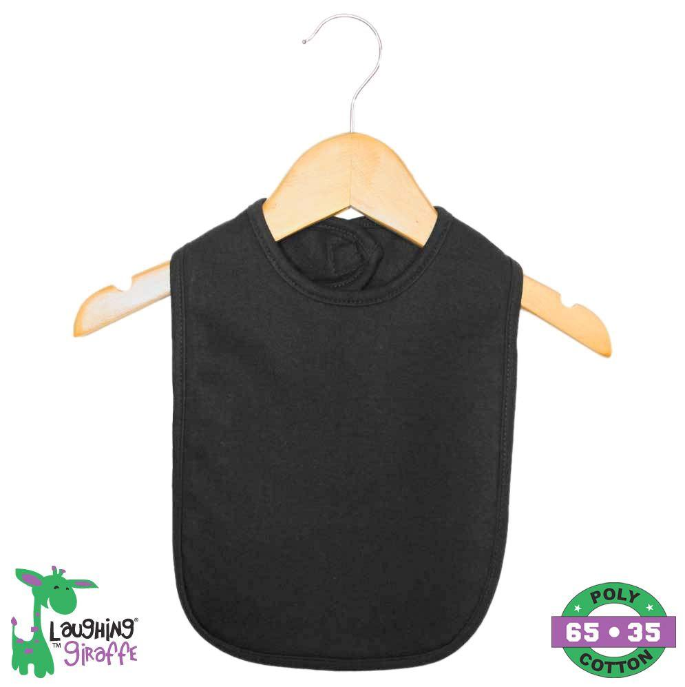 Bib 2 Ply w/ Velcro - Black - Baby World Inc