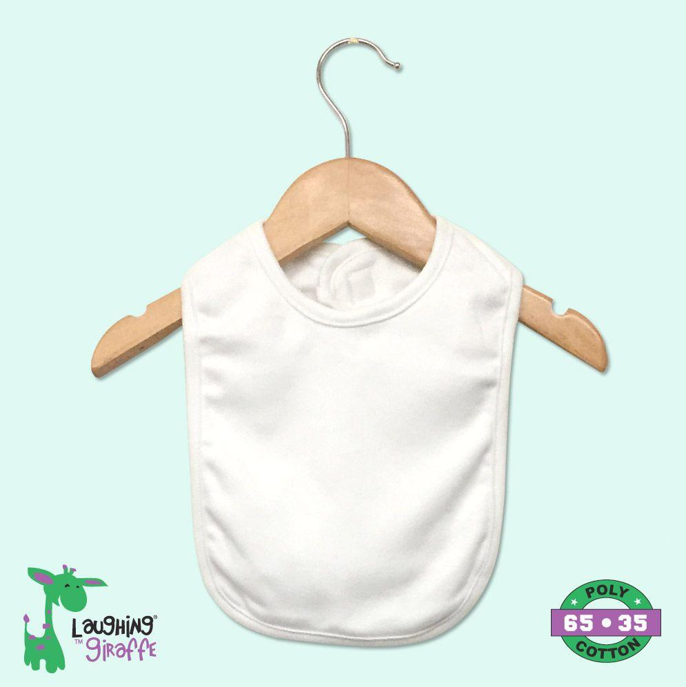 Bib 2 Ply w/Velcro - White - Baby World Inc