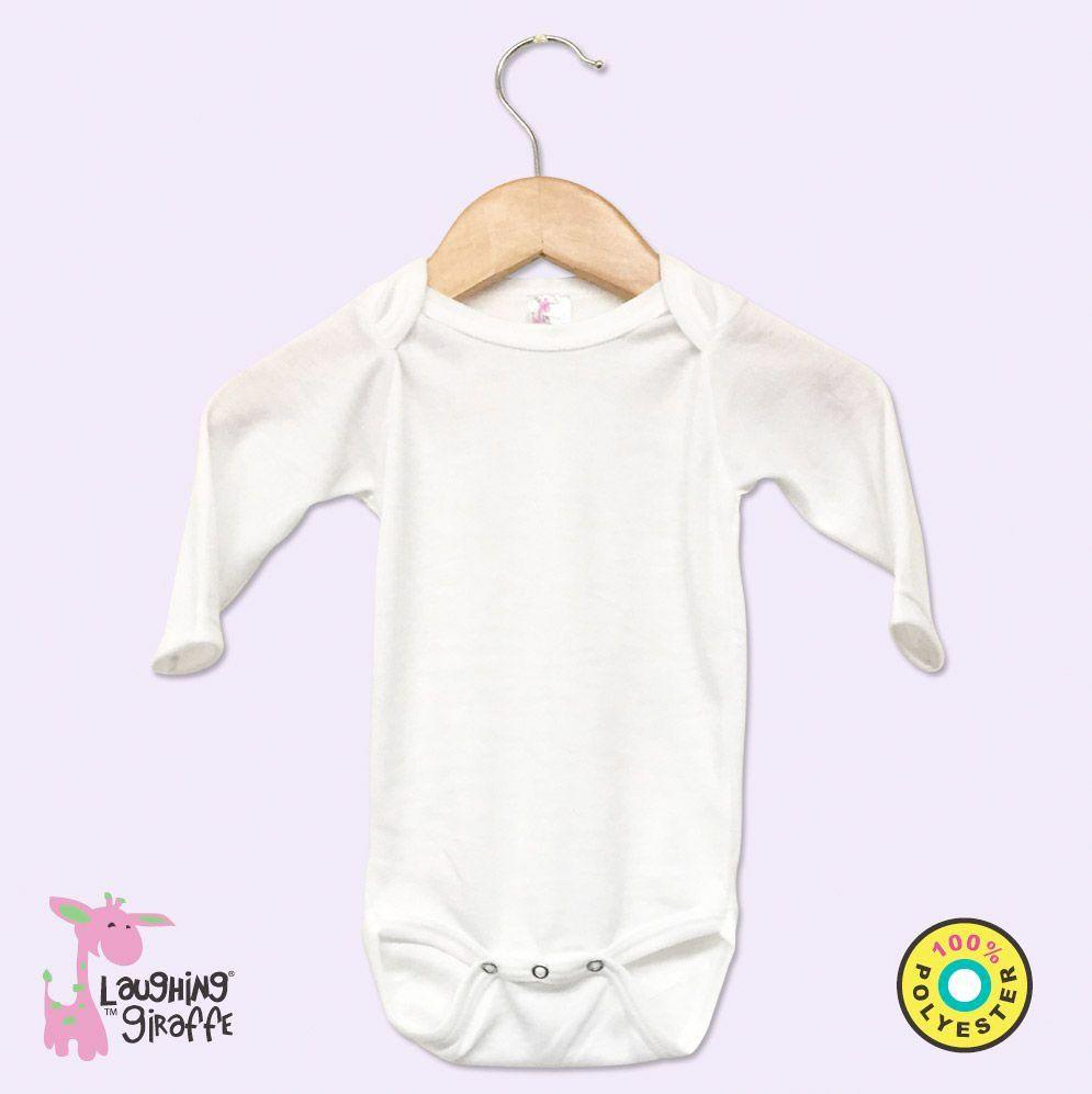 Polyester Onesies - White L/S - Baby World Inc