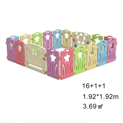 Portable Playpen Fence Plastic Ball Pool Children's Playpen Safety Baby Bed Fence Security Barrier - Baby World Inc
