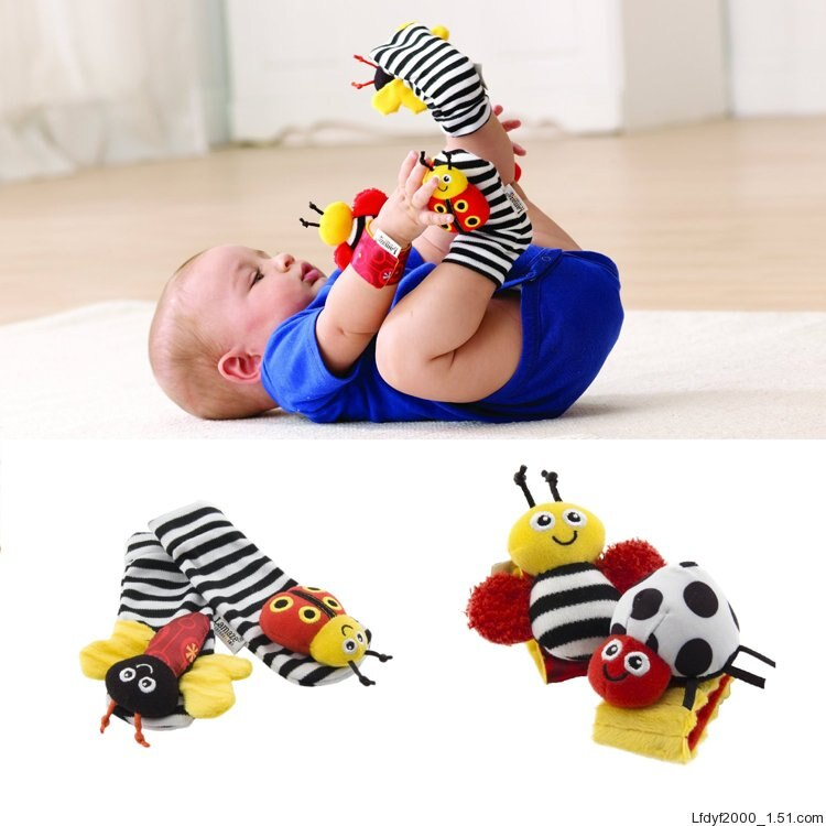 Garden Bug Wrist Rattle and Socks - Baby World Inc