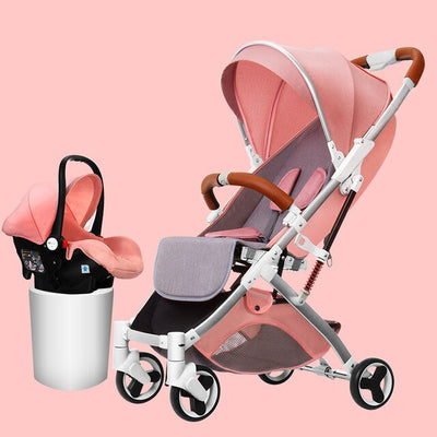 Baby stroller multi-function reclining high landscape stroller light foldable stroller - Baby World Inc