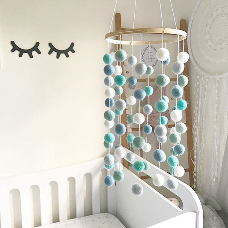 Baby Rattles Nordic Wind Chime Wooden Rattle Mobile Activity Gym - Baby World Inc