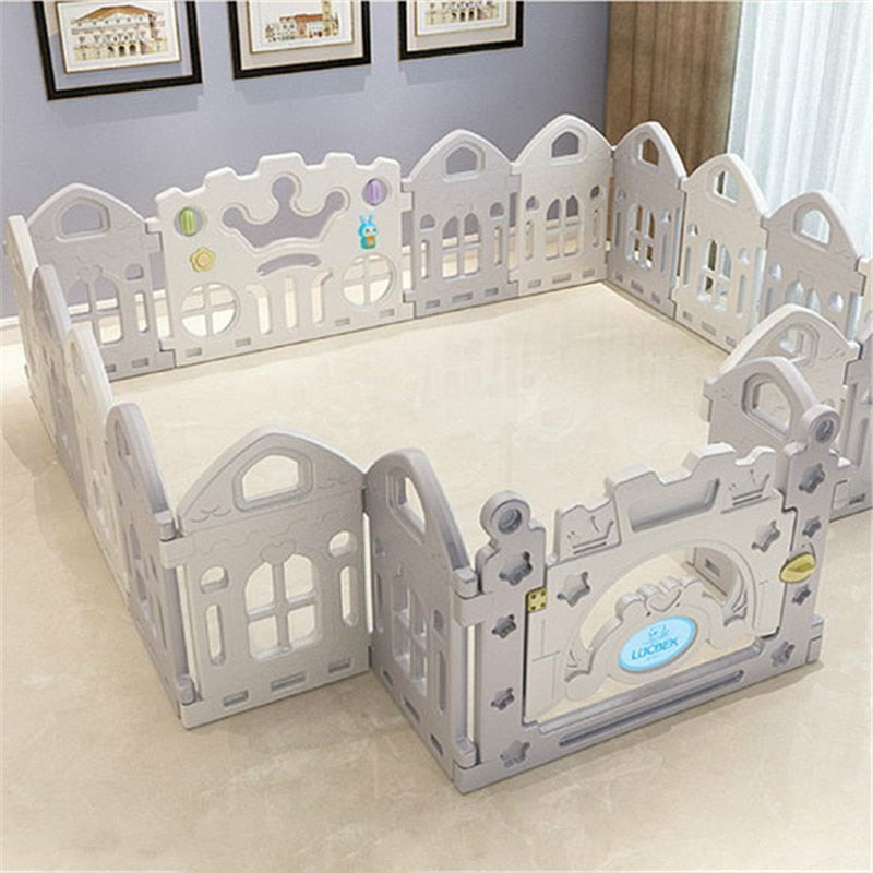 Baby Fence Children Crawling Mat Safety Fence Kids Play House Indoor Toys Playpen - Baby World Inc