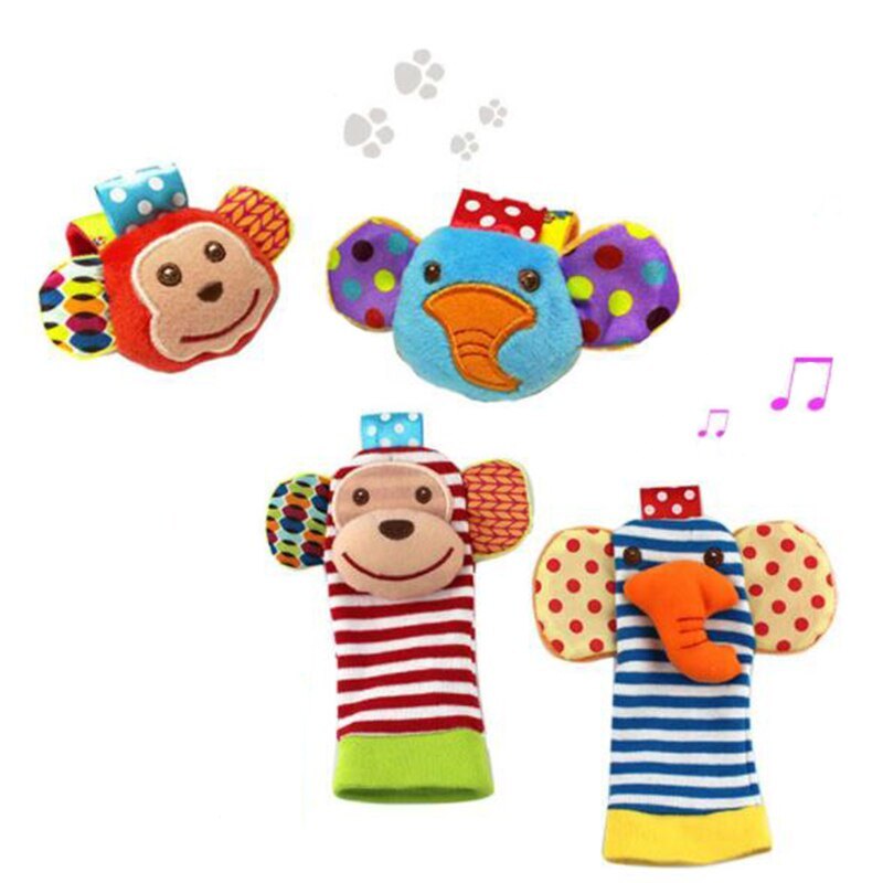 Cartoon Socks and Rattle - Baby World Inc