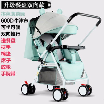 High Landscape Baby Stroller 3 In 1 Travel System Lightweight Folding Baby Carriage 360 Rotation 2 In 1 Luxury 0-3 Y Car Seat - Baby World Inc