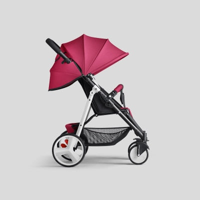 Lightweight Folding Baby Stroller 2 In 1 Can Sit Can Lie Can On The Airplane Travel System Parabebe Children Pram For Newborn - Baby World Inc