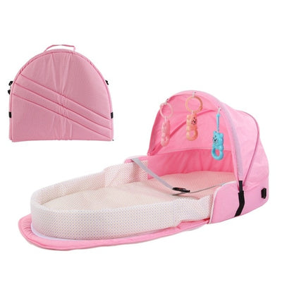 Portable Bassinet For Baby Foldable Baby Bed Bag Newborn Travel  Indoor Bed Backpack Bed  Breathable Infant Sleeping Basket - Baby World Inc