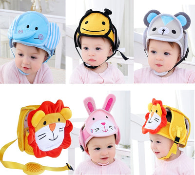 Anti-collision Protective Head Cover Soft Protective Helmet Anti-falling Cap KF599 - Baby World Inc