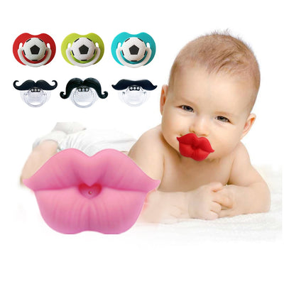 Silicone Funny Baby Pacifier Infant Nipple Soother Joke Prank Toddler Nipple Teether Newborn Pacifier Clips Nipples Bottle Nozzl - Baby World Inc