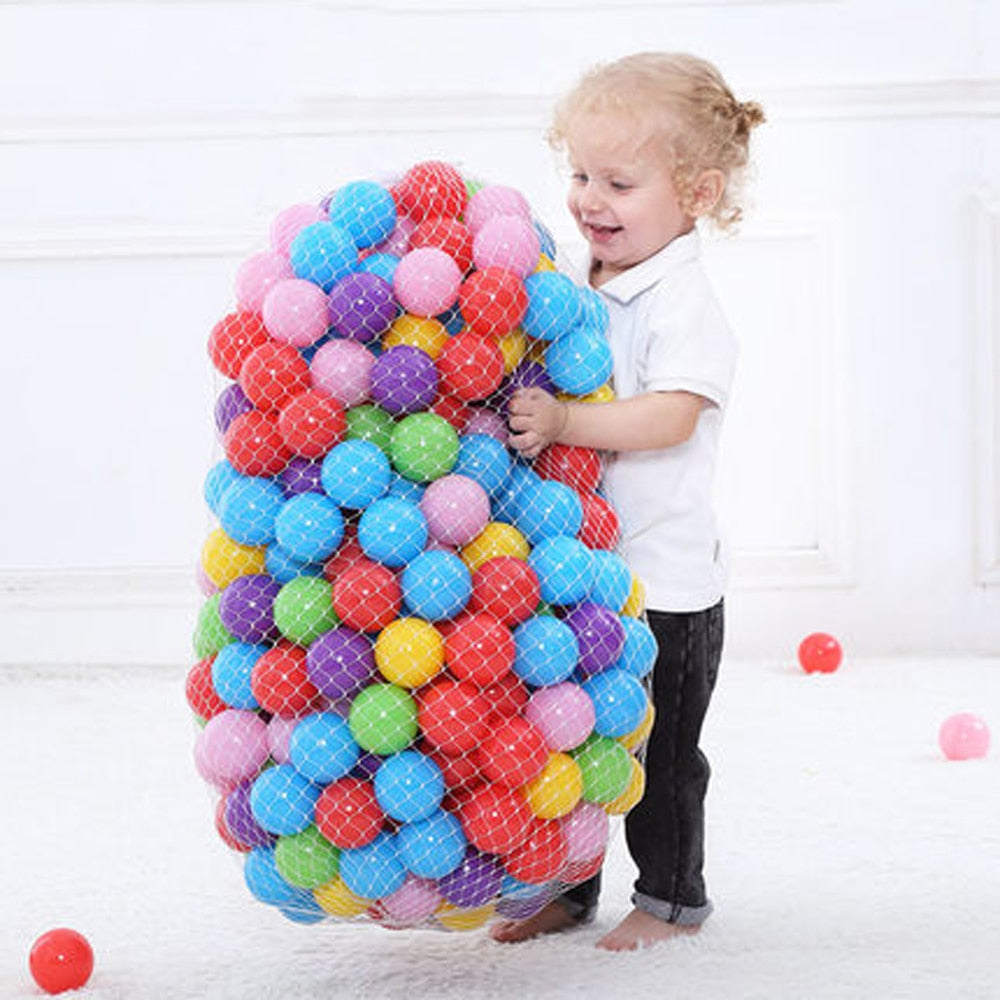 300 Pcs/Lot Eco-Friendly Plastic Colorful Balls Dia 5.5/7 cm - Baby World Inc