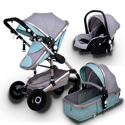 Multifunctional 3 in 1 Baby Stroller High Landscape Two Way Child Pram Baby Comfort - Baby World Inc