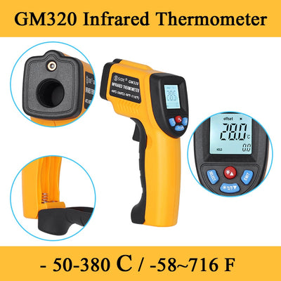 2020 GM320 LCD IR Infrared ThermometerNon-Contact Digital Pyrometer Temperature Meter  Point -50~380 Degree Termometr - Baby World Inc