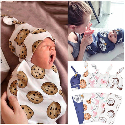 2Pcs/Set Baby Swaddle 100% Cotton Infant - Baby World Inc