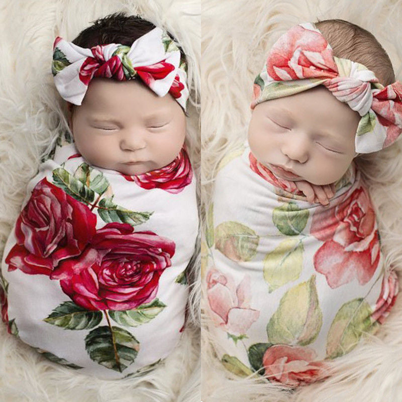 Baby Swaddle Baby Blankets Newborn Headband - Baby World Inc