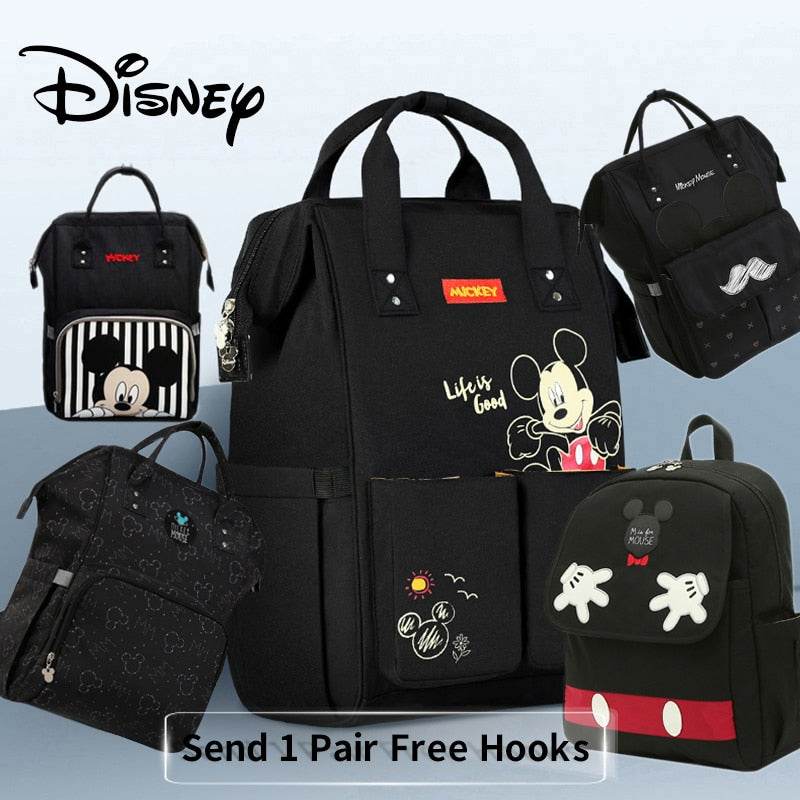 Disney Diaper Bag  w/ Free 1 Pair of Hooks - Baby World Inc