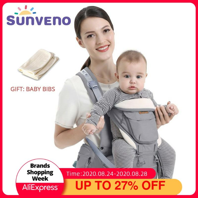 Sunveno Ergonomic Baby Carrier Infant Hip seat Carrier Kangaroo Sling  Front Facing Backpacks for Baby Travel Gear - Baby World Inc