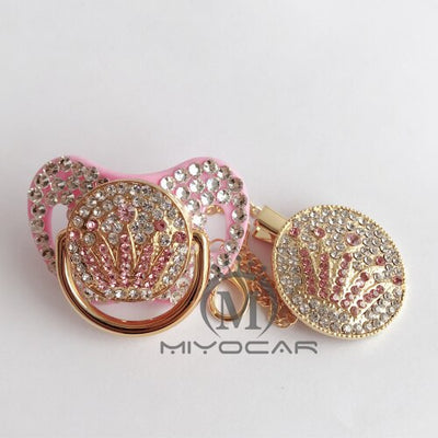 MIYOCAR Pacifier Pink Crown Pacifier - Baby World Inc