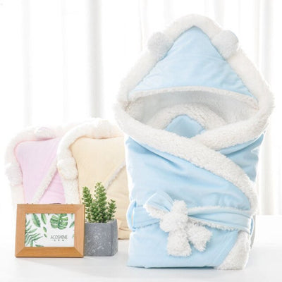 Baby Thick Layer Coral Fleece Infant Swaddle Envelope - Baby World Inc